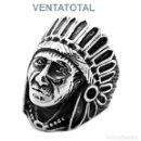 Artesanía: SORTIJA ANILLO VINTAGE DE PLATA ( VIEJO JEFE INDIO ) - PESA 10,03 GRA - TALLA 8 - Nº90 - LEER DENTO. Lote 110938611