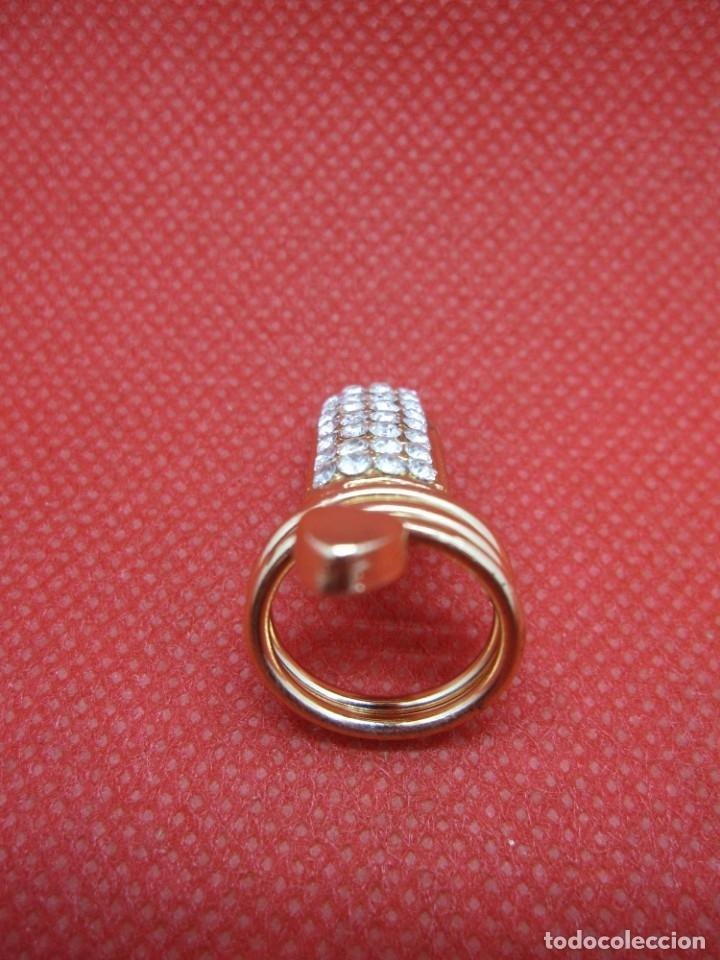Artesanía: Anillo uña brillantes dorado - Foto 5 - 181323101