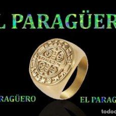 Artisanat: SELLO TEMPLARIO VINTAGE DE ORO AMARILLO DE 18 KILATES LAMINADO TALLA 12 PESA 23 GRA-Nº777. Lote 184053901