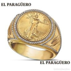 Artesanía: SELLO CON TIPO MONONEDA VINTAGE DE ORO AMARILLO DE 24 KILATS LAMINADO-HAY MAS PREGUNTA TU TALLA-N937. Lote 190777100
