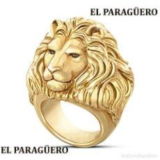 Artesanía: ANILLO LEON VINTAGE DE ORO AMARILLO DE 24 KILATS LAMINADO-HAY MAS PREGUNTA TU TALLA-N940. Lote 190882520