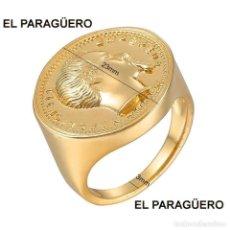 Artesanía: SORTIJA SELLO CON TIPO MONEDA DE NAPOLEON III ES DE ORO AMARILLO DE 24 KILATES LAMINADO - Nº1001. Lote 212219646