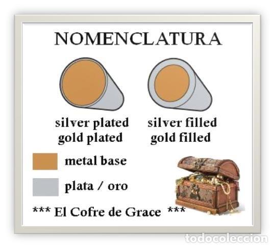 Artesanía: ANILLO EN PLATA 925 (SILVER PLATED) CON ONIX VERDE - TALLA 9,5 (US) ** EL COFRE DE GRACE ** - Foto 5 - 198489972
