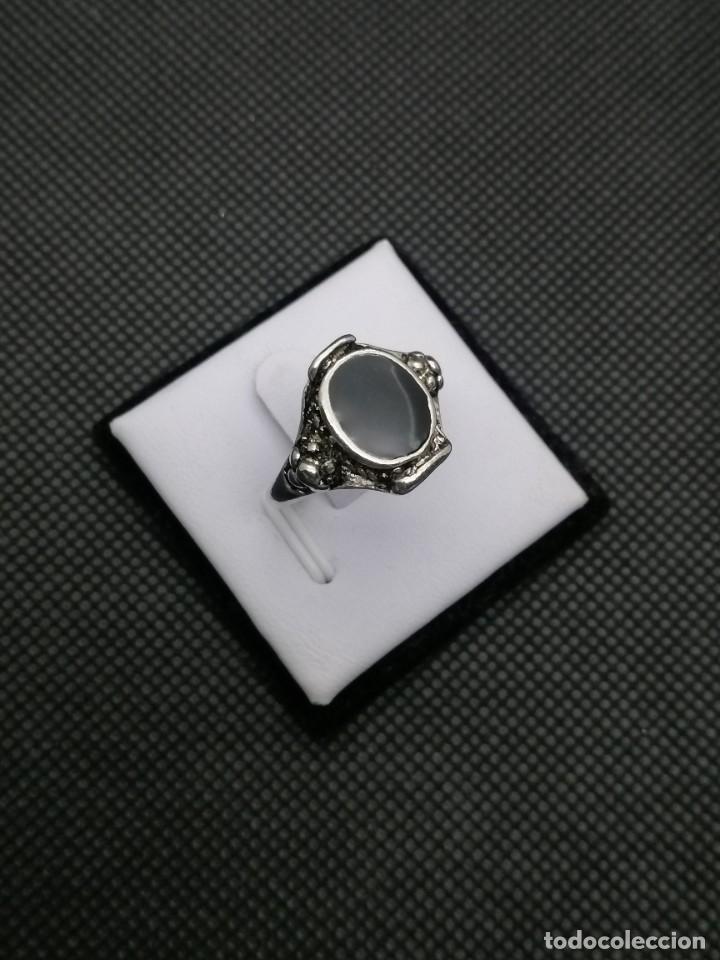 Artesanía: Anillo chapado en acero estilo bohemio. - Foto 4 - 257535350