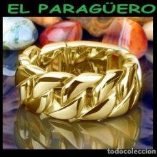 Artesanía: CALIDAD SUPERIOR SORTIJA LAZOS DE ORO AMARILLO DE 24 KILATS LAMINADO - TALLA 10 - Nº1102. Lote 280812118