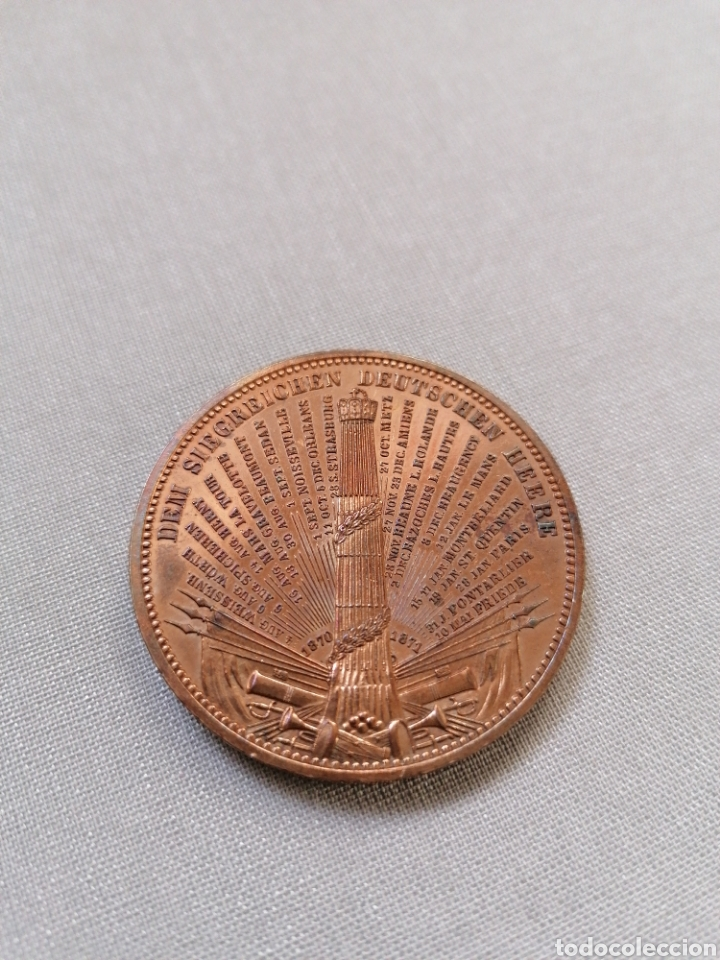 Artesanía: Medalla 1871 de bronce de los Estados alemanes, ejército aleman. Muy bonita y bien cuidada - Foto 2 - 288449173