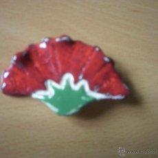 Artesanía: ALFILER DE CERÁMICA, CLAVEL.. Lote 43842985