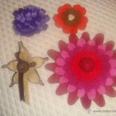 Artesanía: LOTE DE 4 BROCHES DE FIELTRO. Lote 45329072