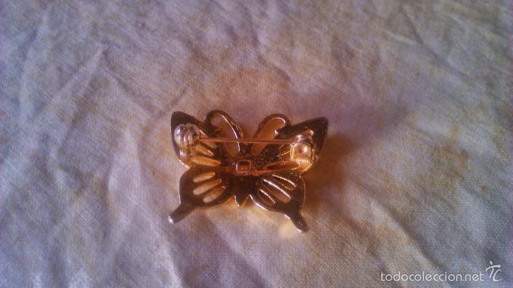 Artesanía: Precioso broche en forma de mariposa,metal dorado. - Foto 2 - 56524234