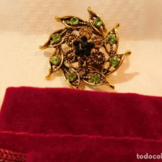 Artesanía: BROCHE DE PRIMERA CALIDAD, A TRES COLORES,. Lote 70335341
