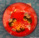 Artesanía: BROCHE RUSO DE MADERA LACADA. PINTADO A MANO.SIN USAR. Lote 146039396