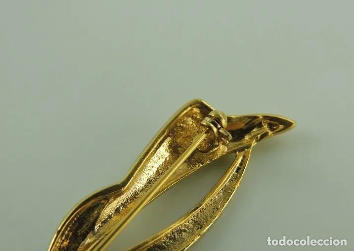 Artesanía: VINTAGE BROCHE baño de oro de 14 k Y CRISTALES - Foto 4 - 193421986