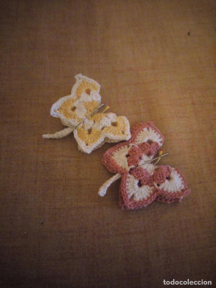 Artesanía: Precioso broches forma de mariposa hechos de ganchillo. - Foto 2 - 198149501