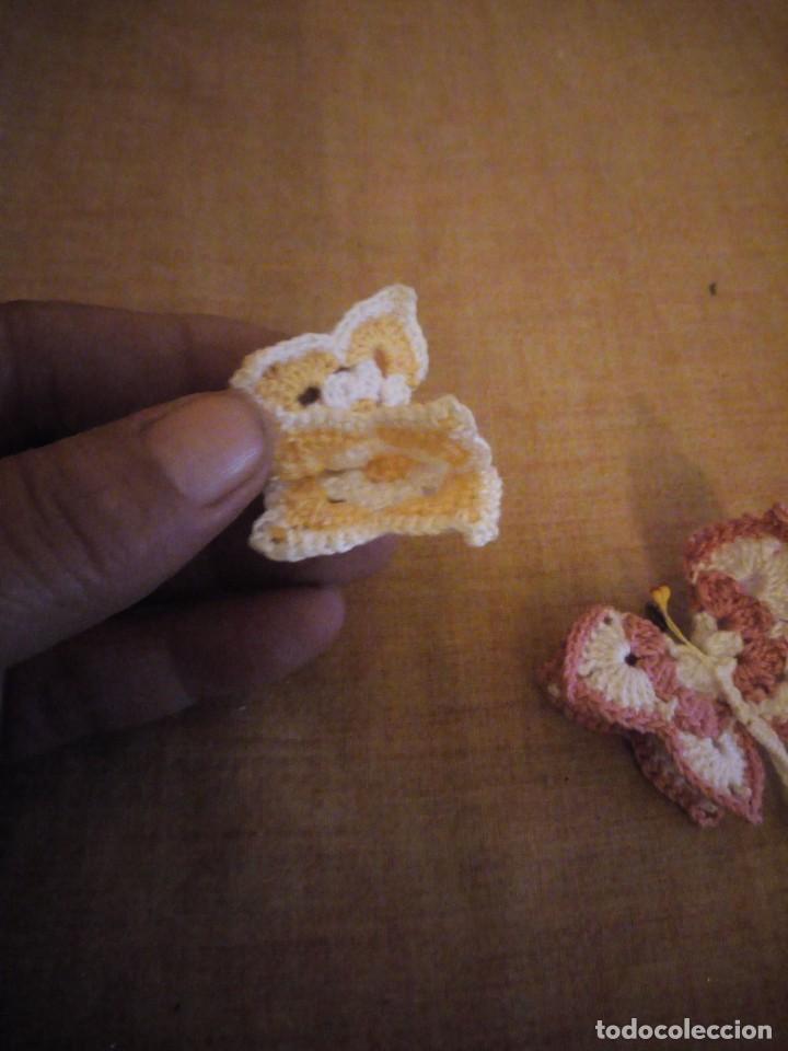 Artesanía: Precioso broches forma de mariposa hechos de ganchillo. - Foto 3 - 198149501