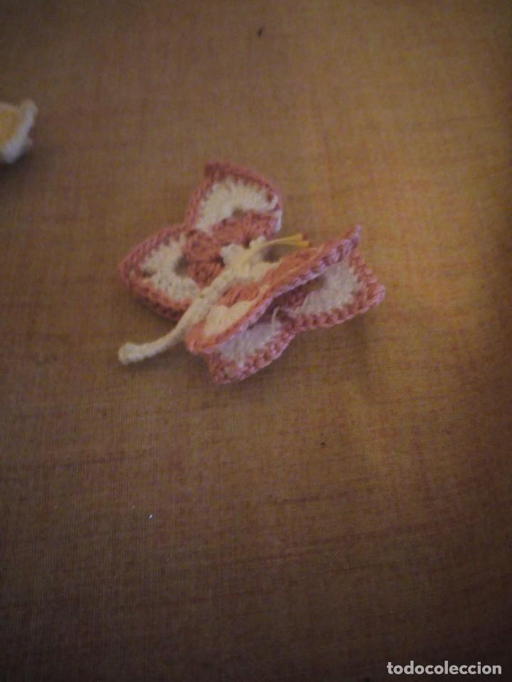Artesanía: Precioso broches forma de mariposa hechos de ganchillo. - Foto 7 - 198149501