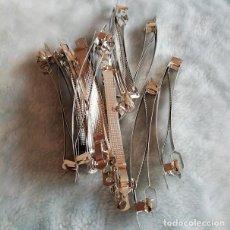 Artesanía: 3 X PRENDEDORES DE 10 CM PARA MONTAJE DE BROCHE. ABALORIOS. Lote 205860645
