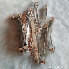 Artesanía: 5 X PRENDEDORES DE 10 CM PARA MONTAJE DE BROCHE. ABALORIOS. Lote 205860693