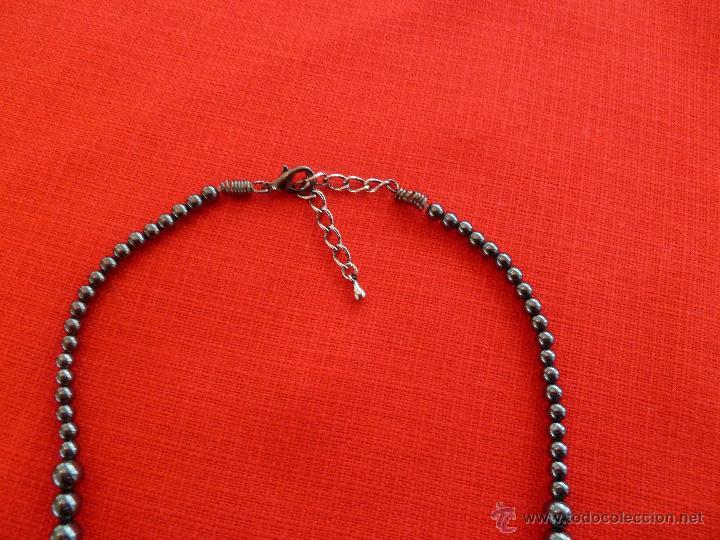 Artesanía: f 1546 ELEGANTE COLLAR DE HEMATITES GRADUABLE CON CADENA - Foto 4 - 48969608