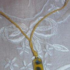 Artesanía: A14 COLLAR CRISTAL - RECTANGULAR - ADAPTABLE HASTA 35/37CM. Lote 56173491