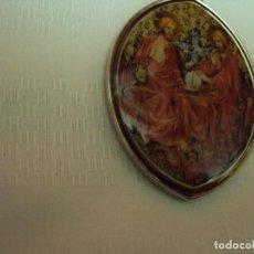 Artesanía: COLGANTE, MEDALLA MUY ANTIGUA DE LA SANTÍSIMA TRINIDAD VITRIFICADA.. Lote 64593383