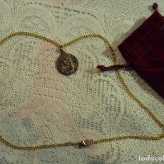 Artesanía: COLGANTE MEDALLA DE PLATA ANTIGUA,. Lote 68790245