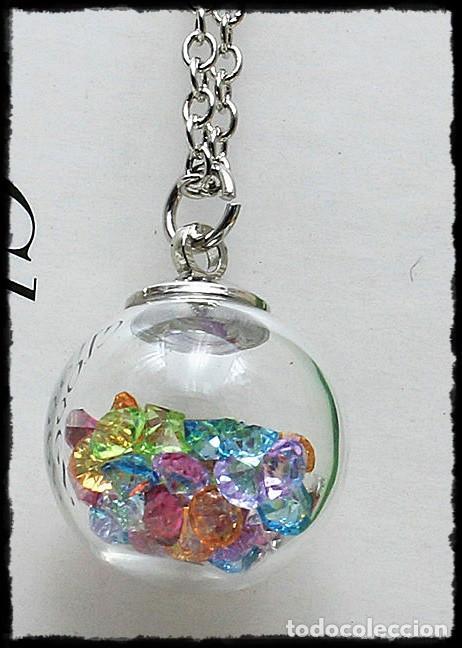 Soleado arcilla Modernización  collar con bola de cristal rellena de pedreria - Comprar Collares de  artesanía hechos a mano en todocoleccion - 77464037