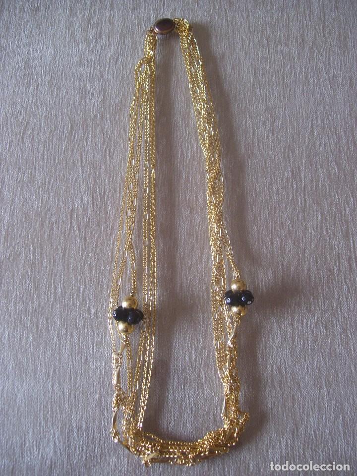 COLLAR 6 CADENAS Y AZABACHE SM 84 CM (Artesanía - Collares)