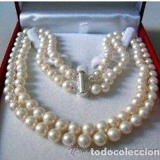 Artesanía: DOBLE COLLAR DE BUENA CALIDAD DE 97 PERLAS PESO 78 GRA APROXIMADAMENTE LEE DENTRO - Nº1. Lote 96939404