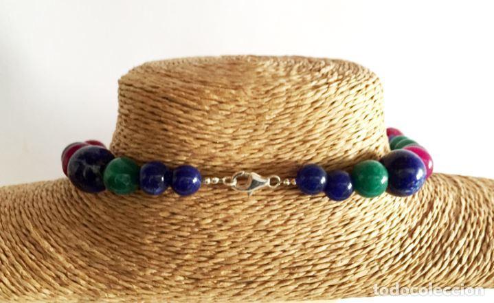 Artesanía: Collar de Cuentas hechas a mano de Rubies, Zafiros, Esmeraldas y Lapislázuli - Foto 4 - 99460631