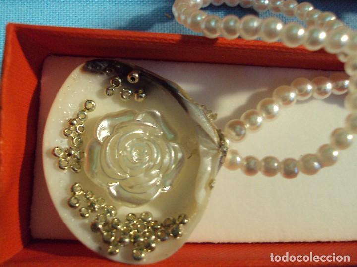 Artesanía: ARTESANIA. Collar de perlas, y una preciosa concha. Artesania. - Foto 2 - 101417511