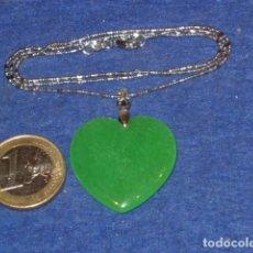 Artesanía: COLGANTE DE JADE VERDE,JADEITA,MODELO GRANDE.. Lote 131641902