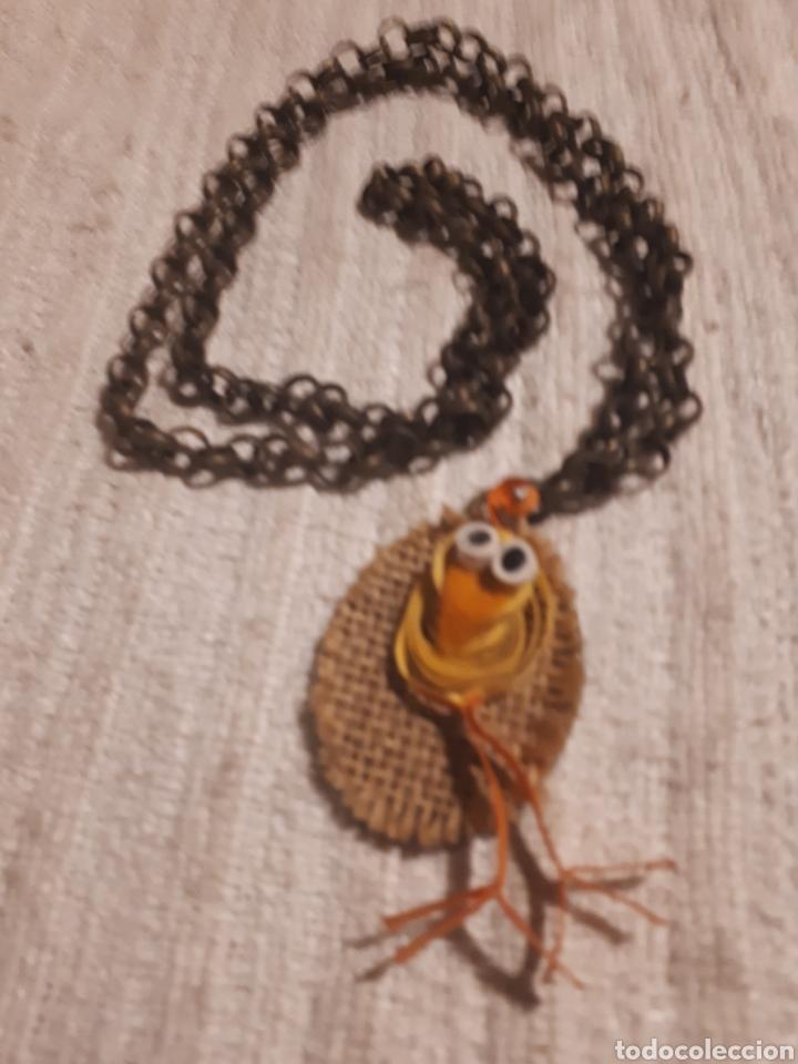 Artesanía: Collar artesanal técnica quilling pato papel ropa saco cadena dorado antiguo de Janil - Foto 2 - 143604074