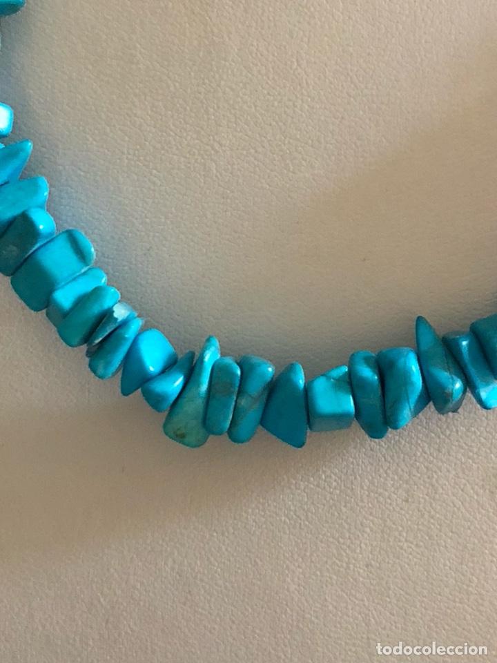 Artesanía: Bonito collar de turquesas naturales - Foto 2 - 167107778