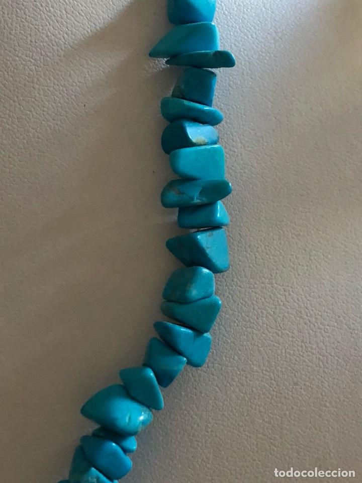 Artesanía: Bonito collar de turquesas naturales - Foto 3 - 167107778
