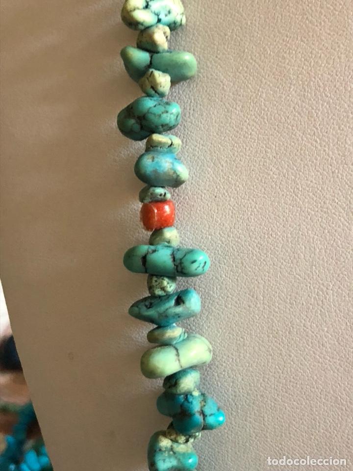 Artesanía: Bonito collar largo malaquita y coral - Foto 4 - 167107990