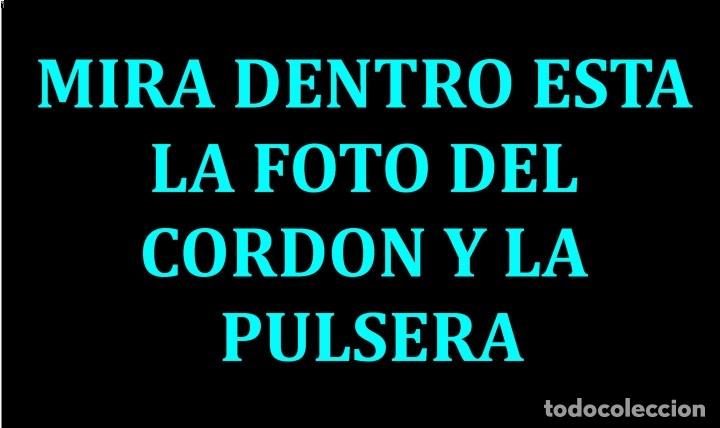 CONJUNTO DE PULSERA Y CORDON VINTAGE - ES DE ORO BLANCO DE 18 KILATES LAMINADO PESO 75 GRA -Nº1 (Artesanía - Collares)