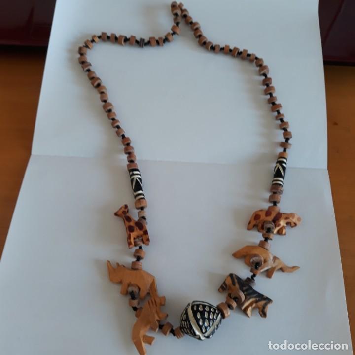 Artesanía: Collar etnico de madera. - Foto 2 - 206789430