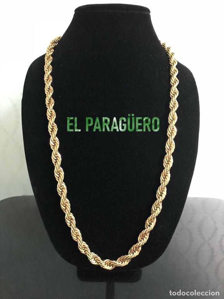 CORDON RIZADO DE ORO AMARILLO DE 24 KILATES LAMINADO - MIDE 51 X 0,5 CM PESA 36 GRA - P3 (Artesanía - Collares)