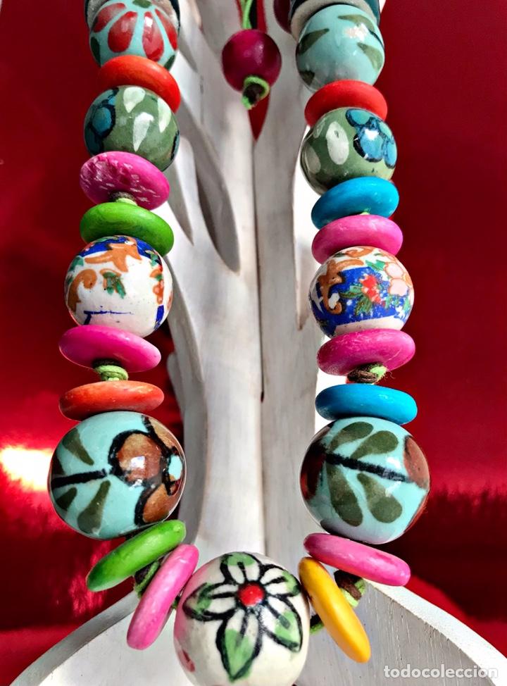Artesanía: Collar cerámica pintado a mano. Complementos Moda Bisutería Artesanal - Foto 2 - 237868265