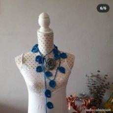 Artesanía: COLLAR HOJAS COLOR TURQUESA. Lote 262505665