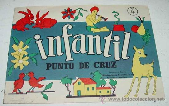 ANTIGUO CATALOGO INFANTIL DE PUNTO DE CRUZ Y FRUNCIDOS - Nº 4 - ABECEDARIO - TIENE 16 PAG - MIDE 22 (Artesanía - Hogar y Decoración)