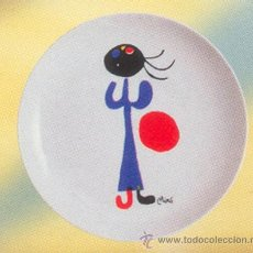 Artesanía: PLATO DE PORCELANA 20 CM, REPRODUCCIÓN DE JOAN MIRO. Lote 243646940