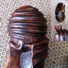 Artesanía: ESCULTURA CARACOLA EN TECA. Lote 26104646