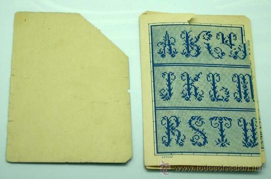 Artesanía: Abecedario labores bordado francés punto de cruz Maison Sajou París - Foto 2 - 29135568