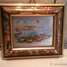 Artesanía: PRECIOSO Y PEQUEÑO CUADRO DE CHAPA HECHO Y PINTADO A MANO,FIRMA ,ELENA ,CREAZIONI,FRANCI. Lote 167406750