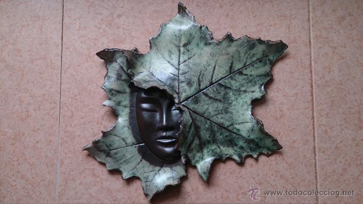 Artesanía: Magnifica mascara en terracota con hojas de parra, hecha a mano . - Foto 4 - 40597192