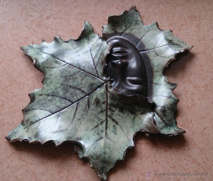 Artesanía: Magnifica mascara en terracota con hojas de parra, hecha a mano . - Foto 5 - 40597192