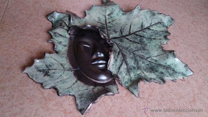 Artesanía: Magnifica mascara en terracota con hojas de parra, hecha a mano . - Foto 7 - 40597192
