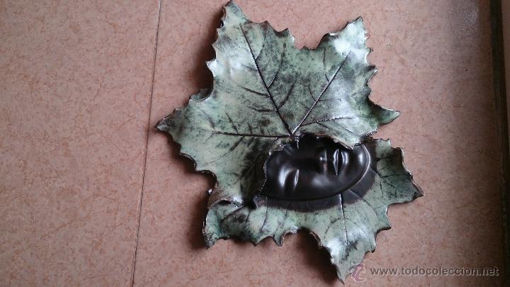 Artesanía: Magnifica mascara en terracota con hojas de parra, hecha a mano . - Foto 9 - 40597192