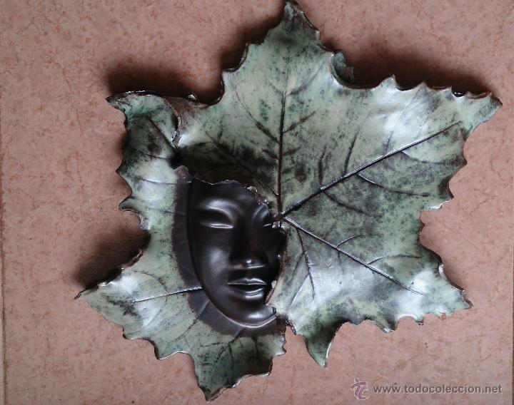 Artesanía: Magnifica mascara en terracota con hojas de parra, hecha a mano . - Foto 10 - 40597192